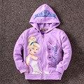 Cinderela Crianças Meninas das crianças Casaco Fashion jaquetas Meninas Outerwear & Casacos Meninas Hoodies Jaquetas Casacos Primavera Do Bebê Outono