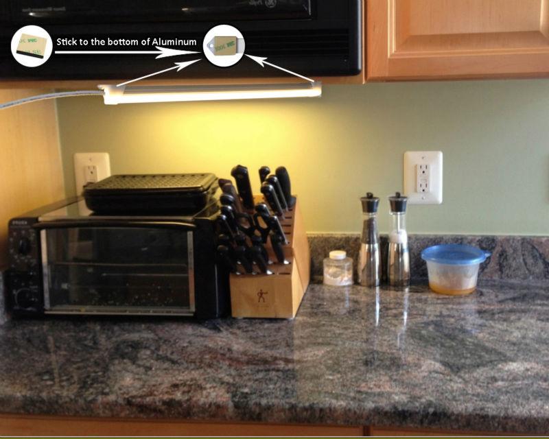 USB LED svjetlo Bar 5V kruta LED traka za kuhinju Zatamnjena - LED Rasvjeta - Foto 3