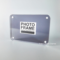 Pack 10 Units Round Corner Black Plexilgass Lucite Photo Frame Block With Magnetic PF012