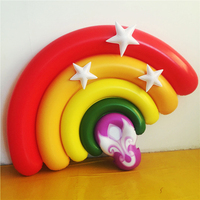 160cm Giant Inflatable Pool Float Inflatable Cute Rainbow Float Beach Party Inflatable Float for Pool Water Swim Ring Party Toys