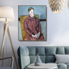 Cezanne's wife by Cezanne Wyatt Wall Art Canvas Poster and Print Canvas Painting Decorative Picture for Living Room Home Decor цена и фото