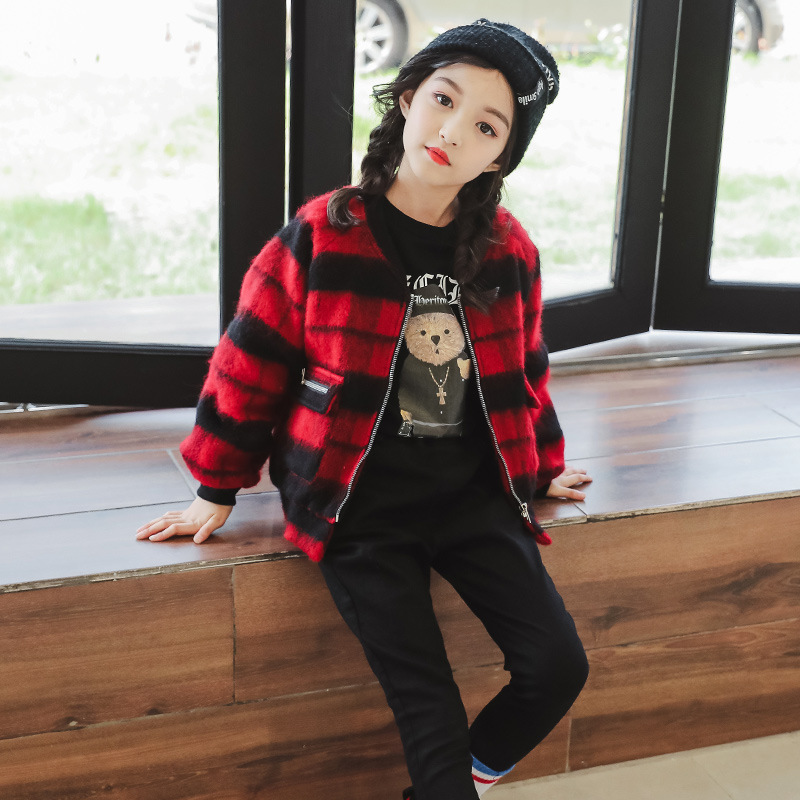 2018 Girls Coat Winter Plaid Baby Girl Jackets Thicken Warm Outwear Kids Clothes 4 5 6 7 8 9 10 11 12 13 Years Meisjes Kleding teenage girls new summer cotton plaid dress girl kids 5 6 7 8 9 10 11 12 13 years baby girl clothes children vestidos infantis