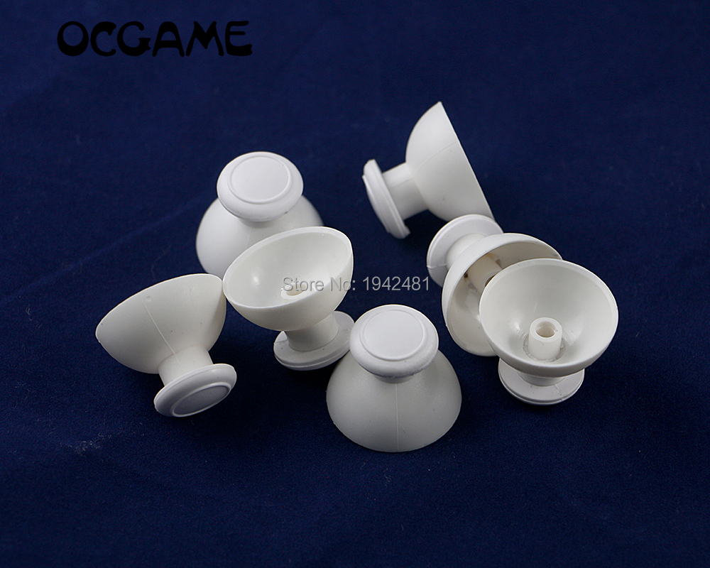 OCGAME 3pcs/lot High Quality White Thumbstick Joystick Cap Mushroom Caps For Wii Nunchuck Controller
