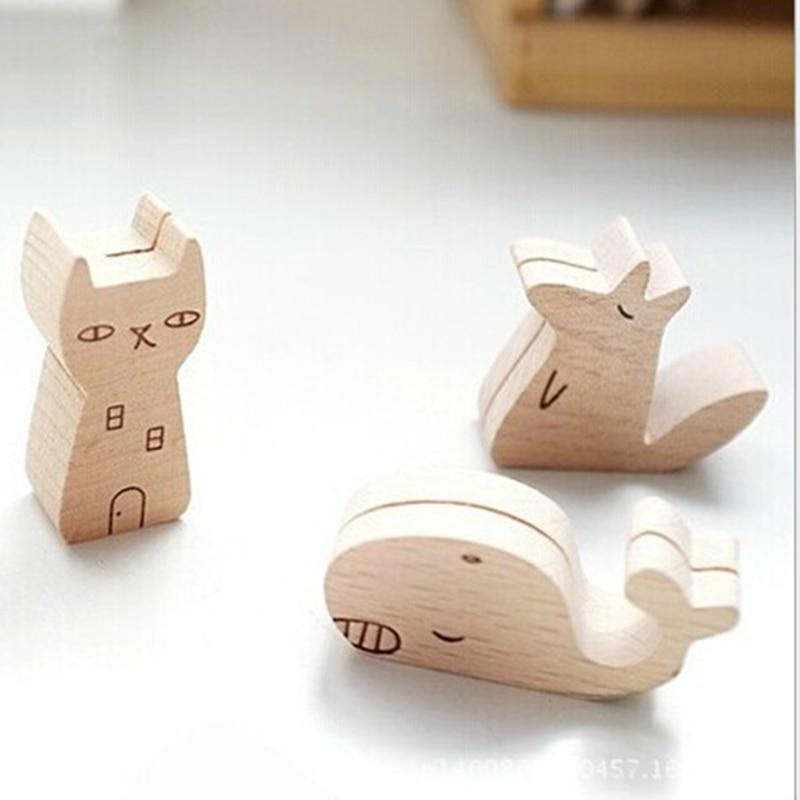 Cute animal wooden information folder photo clip cartoon note font b card b font font b