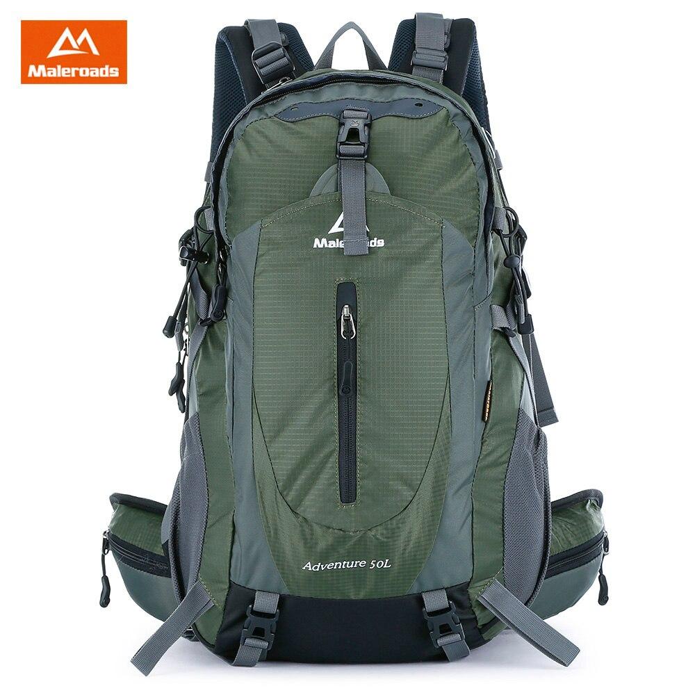 Maleroads 50L Спорт на открытом воздухе рюкзак с дождевик непромокаемый нейлон пеший Туризм Кемпинг путешествия чемодан велосипед