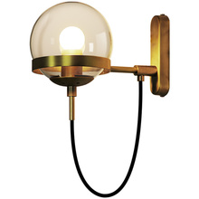 Postmodern Wall Lamp LED Wall Sconces Bedside Living Room Hotel Aisle Bedside Bedroom Lamp Glass Ball Wall Sconce Light Fixture lamp bedroom bedside led wall lamp aisle stairs led lighting children room creative lamps wall sconces living room wall light