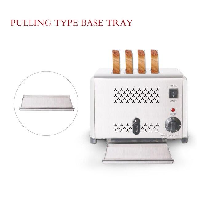ITOP Stainless Steel 4 Slices Toaster Machine Breakfast spit driver Breakfast Machine baking bread maker sandwich heater 6