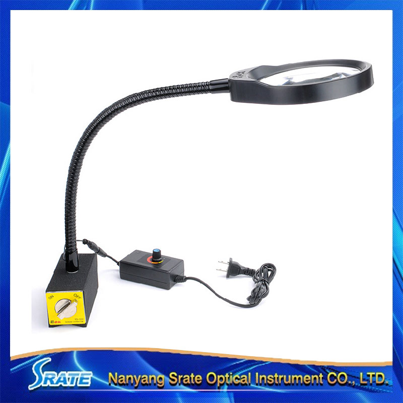 ФОТО 5X LED Illuminant Stand Table PCB Magnifier Large Magnifying Glass with Light for Reading