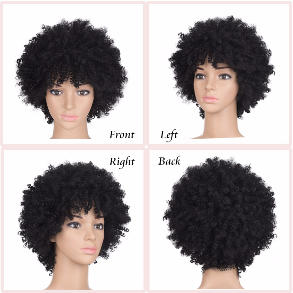 Synthetic Wigs Sincere Fave Synthetic Wigs Left Side Part Long Fluffy Kinky Curly Heat Resistant Brown Blonde Mixed Color Cosplay African American Wig
