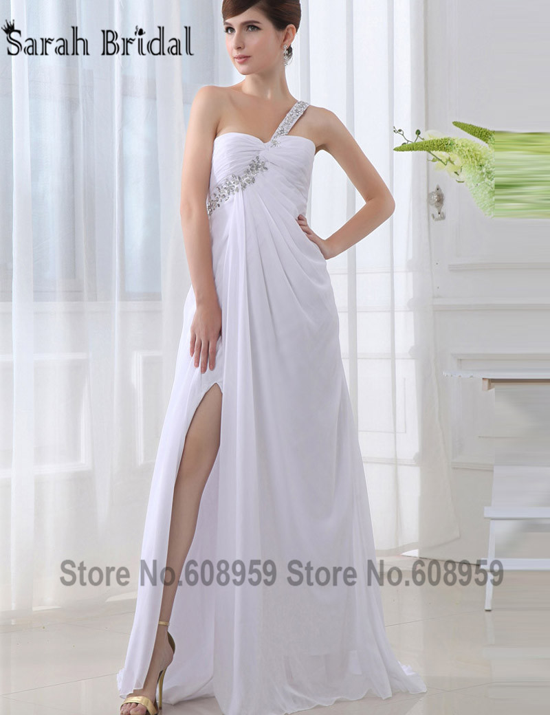 In stock sexy side split long bridesmaid dresses 2017 one shoulder in stock sexy side split long bridesmaid dresses 2017 one shoulder crystal sequins chiffon party dresses vestidos sd011 in bridesmaid dresses from weddings ombrellifo Choice Image