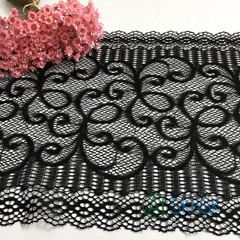 Latest arrival 10yards/lot White black exquisite eyelash lace trim embroidery lace fabric diy width 21cm dress clothing accessor