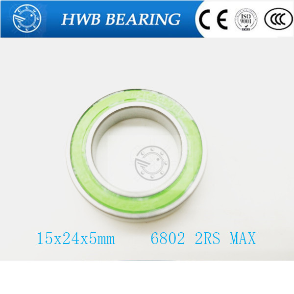 Free Shipping Hub bearing full complement balls bearing 6802-2rs max 15x24x5mm free shipping 6802 2rs bearing steel hybrid ceramic deep groove ball bearing 15x24x5mm 6802 2rs 6802rs