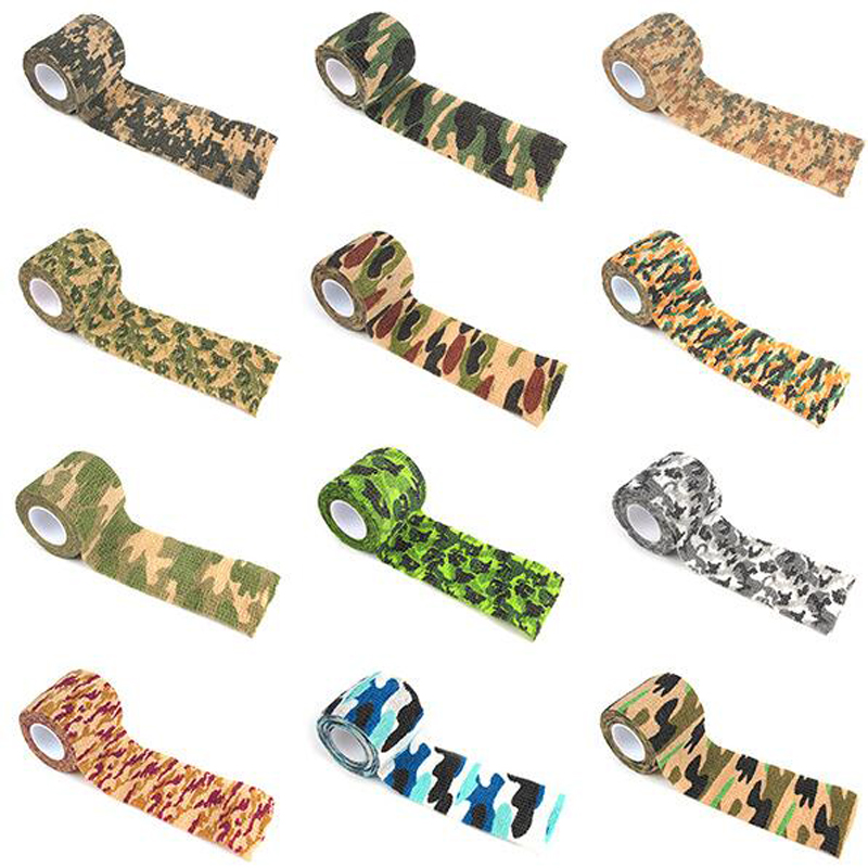 Self Adhesive Camouflage Bandage Cotton Blend Elastic Adherent Cohesive Wrap Finger Bandage Tender Tape Self Adhering Stick