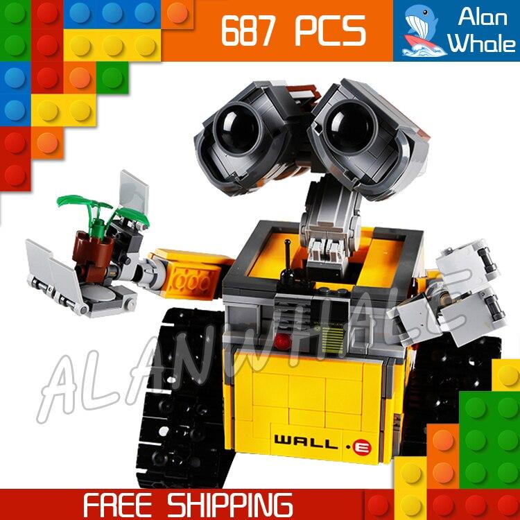 687 pièces idées Pixar mur E Robots pistes roulantes film 16003 Figure blocs de construction assembler des jouets pour enfants compatibles avec LegoING