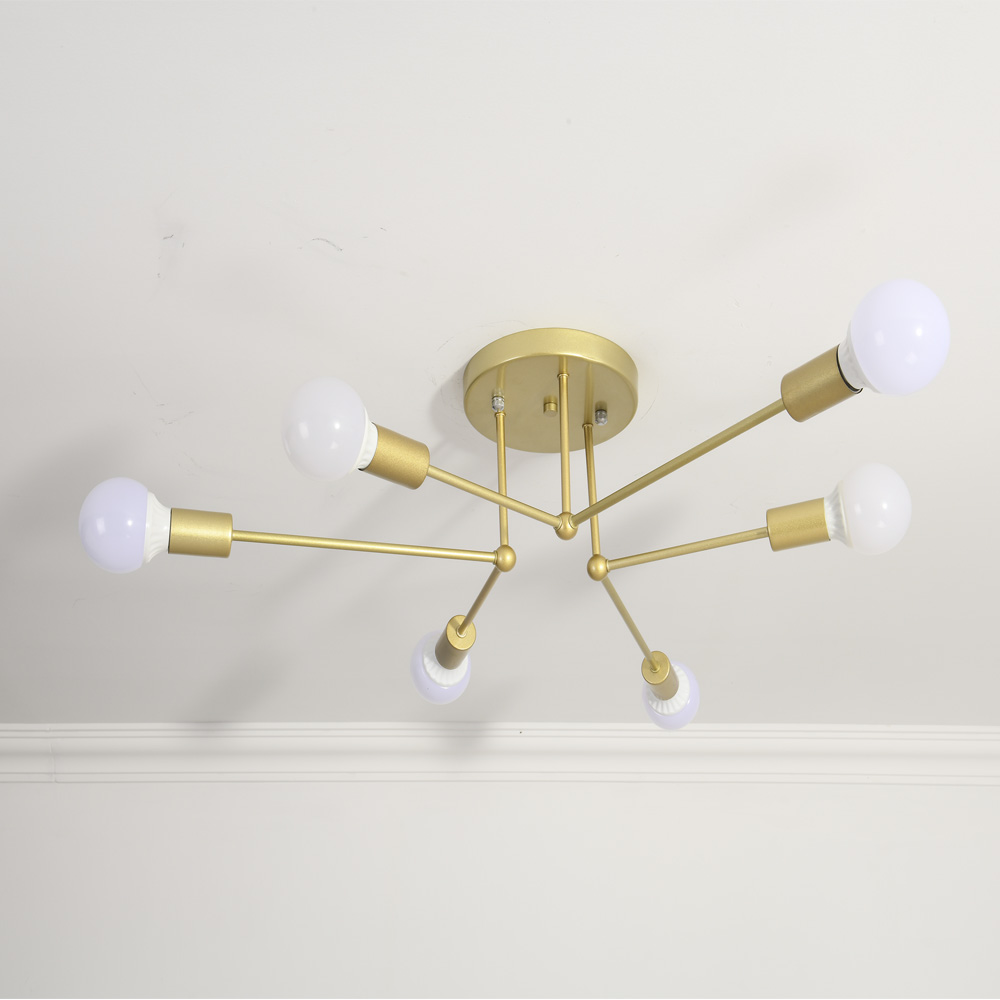 Nordic led chandelier with E27 bulb lights 6 heads hanging ceiling lamp For Living Room Bedroom