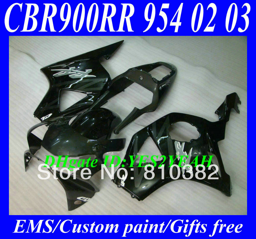 CUSTOM Motorcycle Fairing kit HONDA CBR900RR 02 03 CBR900 954 2002 2003 Fashion silver black ABS Fairings set HP28 - FAIRING KIT Co. Ltd store