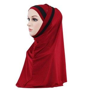 Image 4 - 2PCS Muslim Hijab Islamic Women Under Scarf Bone Bonnet Ninja Head Cover Inner Cap Arab Prayer Hat Ladies Ramadan Turban Fashion
