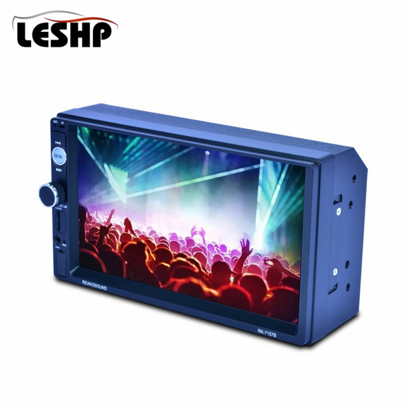 7 HD LCD Touch Screen 800*480 Car MP5 Player Bluetooth 1080P 7 Color Button Back Light Mirror Link FM/AM/RDS Tuner RK-7157B