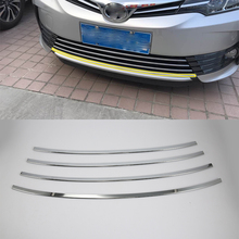 ABS Chrome Exterior front grill cover trims cover  For TOYOTA COROLLA 2017 car accessories car body kits abs chrome front grill cover car sticker for toyota vios 2017