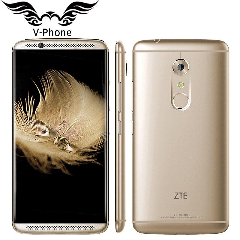 Original ZTE Axon 7 A2017 4G LTE 4GB RAM 128GB ROM Mobile Phone Snapdragon 820 Quad