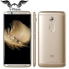 D'origine ZTE Axon 7 A2017 4G LTE 4 GB RAM 128 GB ROM Mobile Téléphone Snapdragon 820 Quad Core 2.15 GHz 5.5 pouce 20.0MP D'empreintes Digitales NFC