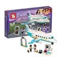 245 unids SY807 Amigos Heartlake Jet Privado Modelo Kit Bloques de Construcción figuras compatible Con Lepin 41100 ladrillo conjunto de Juguete niña