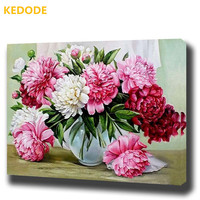 KEDODE DIY Frameless Oil Painting By Digital Flower Picture Canvas Painting Living Room Wall Art House