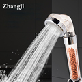 ZhangJi Bathroom Water Therapy Shower Anion SPA Handheld Shower Head Water Saving Rainfall Filter Shower Head High Pressure ABS