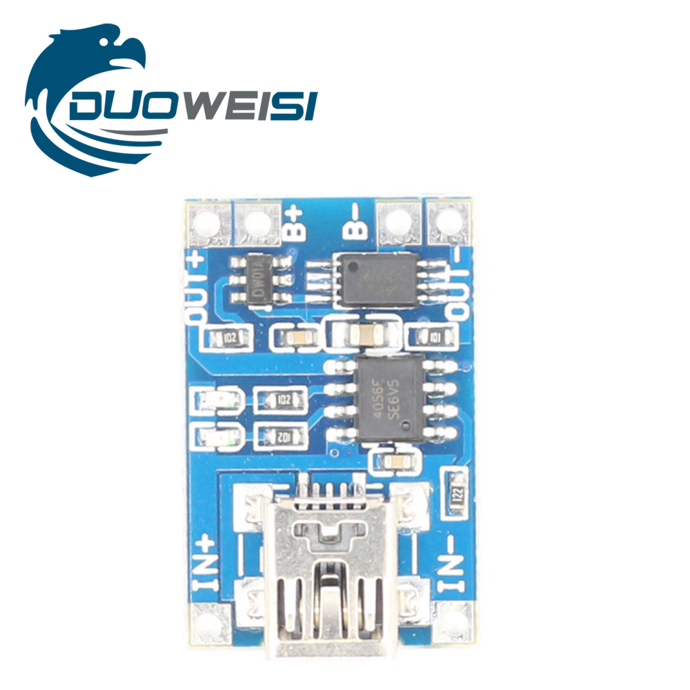 Smart Electronics 5V Mini USB 1A 18650 Lithium Battery Charging Board With Protection Charger ModuleDiy Kit 1p original 5a dc to dc cc cv lithium battery step down charging board led power converter lithium charger step down module for
