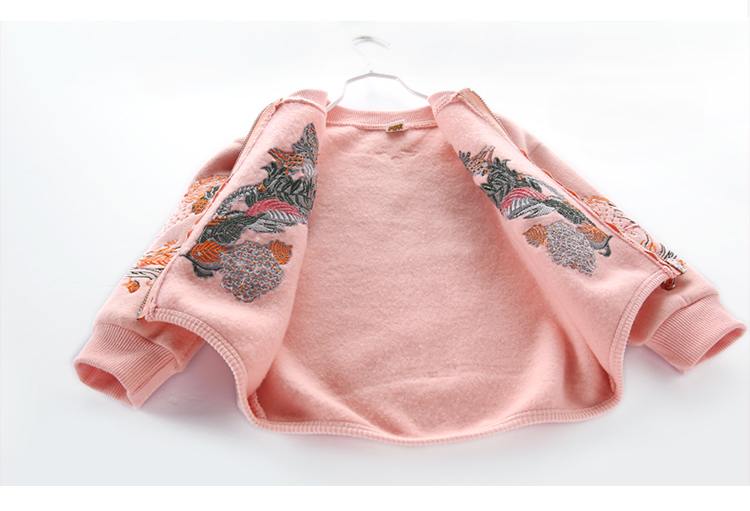 Пальто для маленьких мальчиков и девочек Высококачественная детская верхняя одежда с вышивкой на весну и осень Верхняя одежда Детские куртки для детей 2, 3, 4, 5, 6, 7, 8 лет