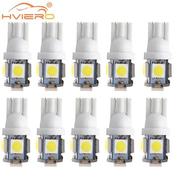 цена на 10X T10 Car Led W5W 5050 5 SMD White Blue Red Auto Led Backup Lights Wedge Reading Lamp Trunk Bulbs License Plate Light DC 12V