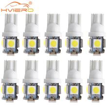 10X T10 Car Led W5W 5050 White Blue Red Auto Backup Light Wedge Roof Dome Reading Lamp Trunk Bulb License Plate Light Trunk Lamp