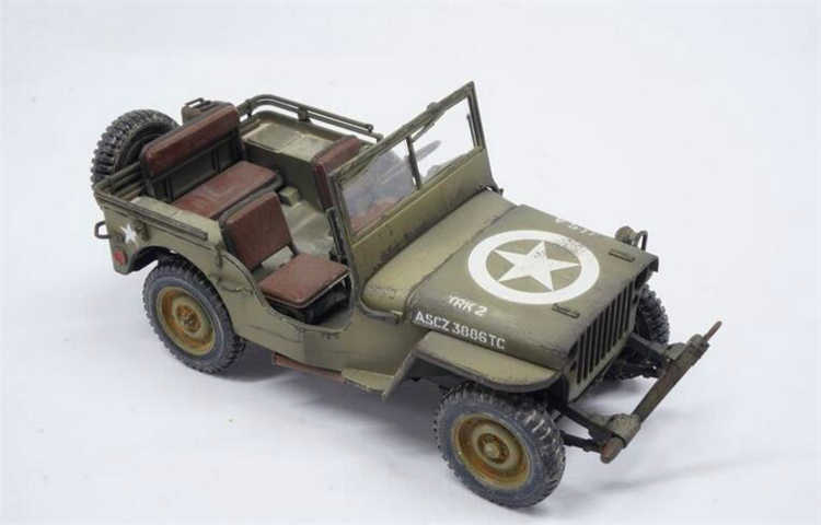 Aieioi Free Shipping Tamiya 35219 1/35 Willys MB Jeep 1/4 Ton 4x4 Truck  Military AFV Assembly Plastic Model Building Kits