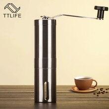 TTLIFE Mano Molinillo de Café Molinillo de Café Manual de Mini Manual de Acero Inoxidable Brewing Cónico Burr Molino para Precisión Cepillado