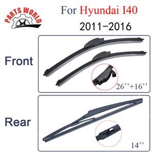 Стеклоочистители для Hyundai I40 2011-2016, передние и задние дворники, автомобильные аксессуары, автозапчасти