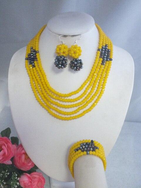 W-3834 New Simple Design Crystal Beads Jewelry For Nigerian Wedding