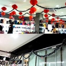200 cm Christmas Decor Mall Bar Tops Ribbon Garland Streamers Christmas Tree Ornaments White Green Cane Tinsel Party Supplies 6