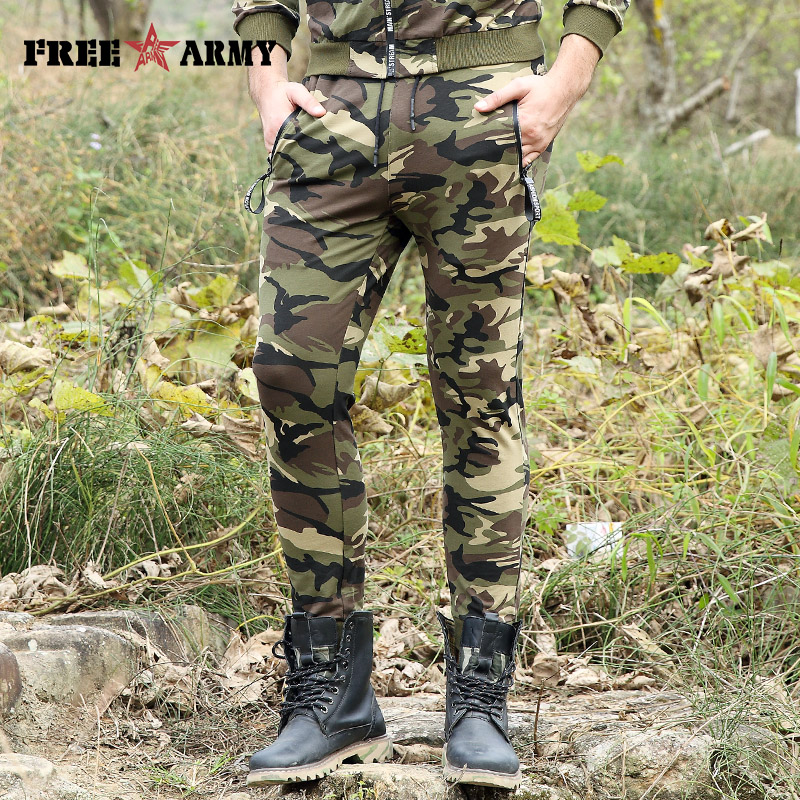 2017 New Arrived Camouflage Sweatpants Casual Men Elastic Waist Trousers Sweat Pants Joggers Pants Skinny Trousers Hot MK-7293C