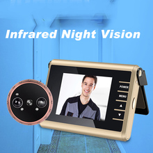 120 Wide Angle View 1 0MP HD Digtial Peephole Camera and PIR Motion Detection auto