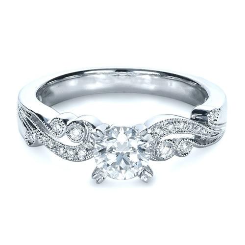 LASAMERO Split 1.25CT Simulated Diamond Solid 9k Gold Jewelry White Gold Engagement Diamond Wedding Ring Brilliant Vintage Ring