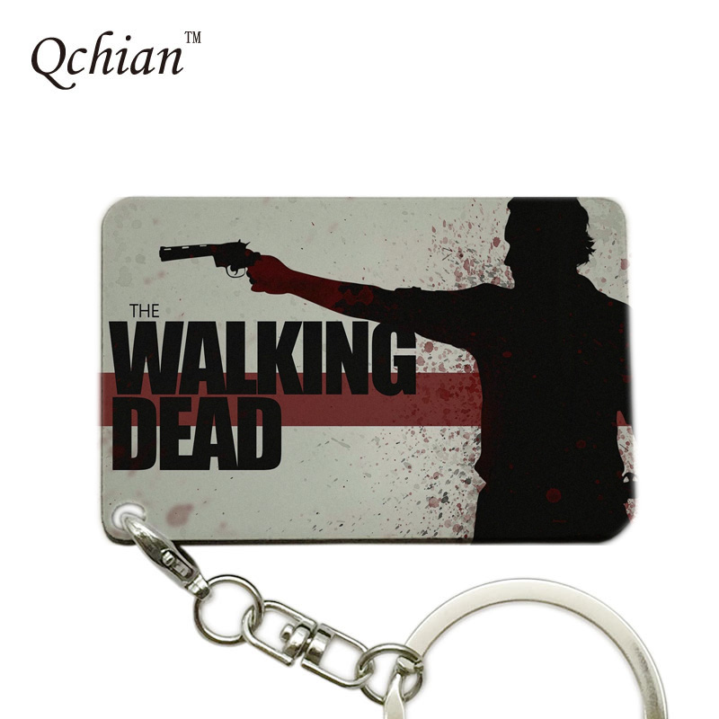 цена на The Walking Dead series Print Keychain Pretty Nice Gift Memorable Keyring Key Holder Pictures can be Customized
