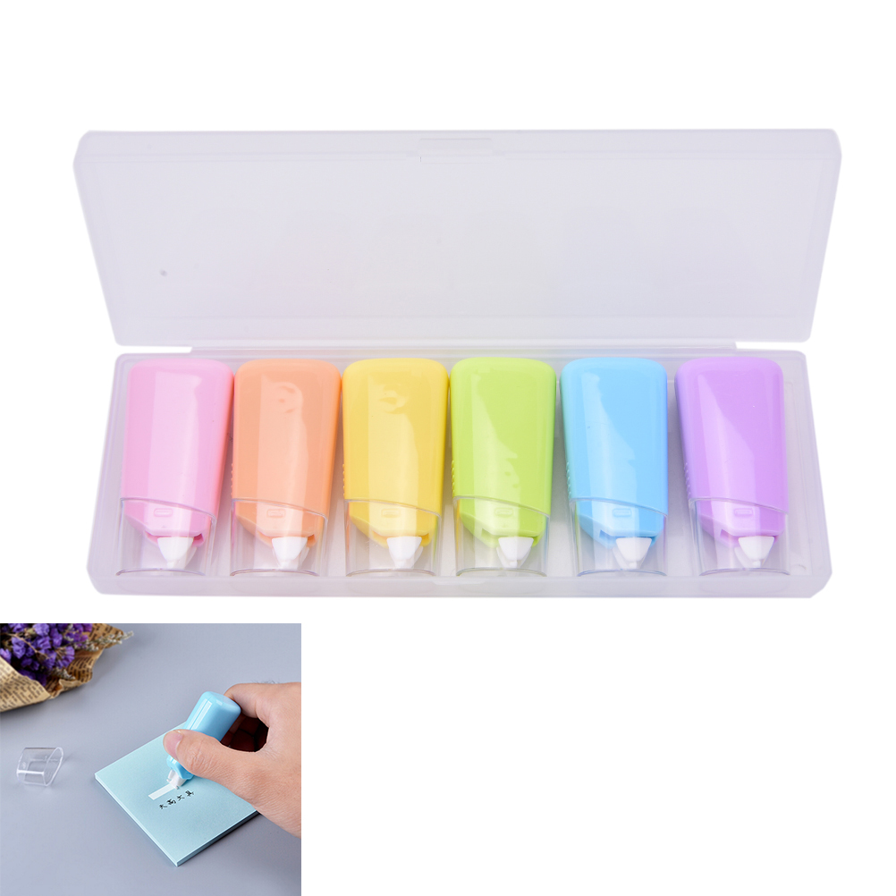 6PCS/SET Cute Correction Tape Roller Material Escolar Kawaii Stationery Office School Supplies Papelaria
