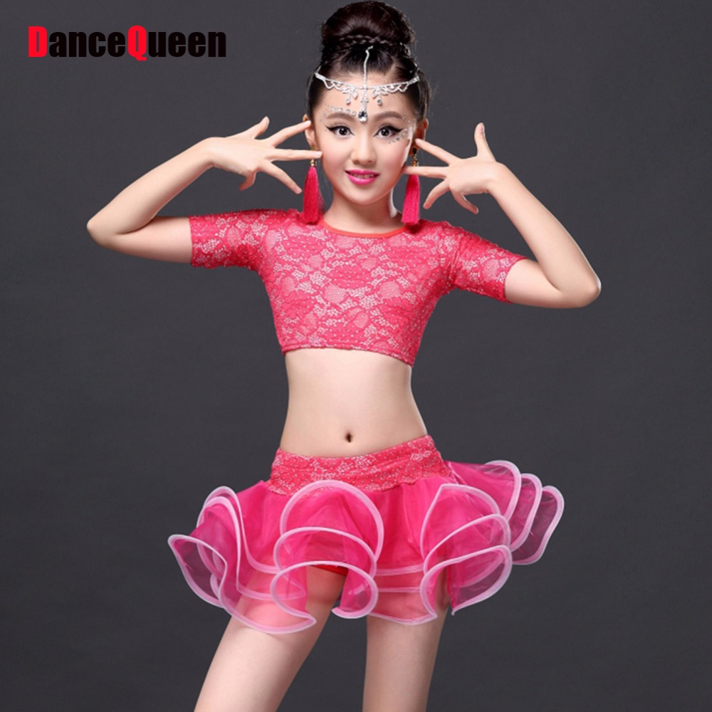 Womens Slit High Neck Latin Dance Dress Rumba Samba Cha Cha Paso Double Ballroom