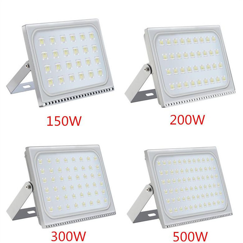 2PCS Ultrathin LED Flood Light 150W 200W 300W 500W IP65 110V/220V LED Spotlight Refletor Outdoor Lighting Wall Lamp Floodlight