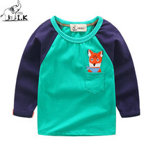 I.Okay Boys Long Sleeves Sweatshirts Cartoon Embroidery Cute Tops 2017 Fashion Children Kids Clothing Cotton Tees Bobo Chose LT1015