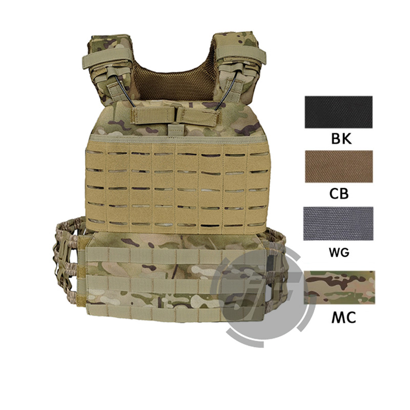 Tactical Cross Fit Plate Carrier Weighted Vest Adjustable MOLLE Modular Quick Release for Training Fitness Running