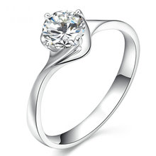 4-Claw Women Diamond Solitaire 18K White Gold 0.20ct Natural Diamond Handmade Wedding Engagement Jewelry