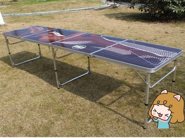 Draagbare opvouwbare bier pong tafel officiële bier pong outdoor