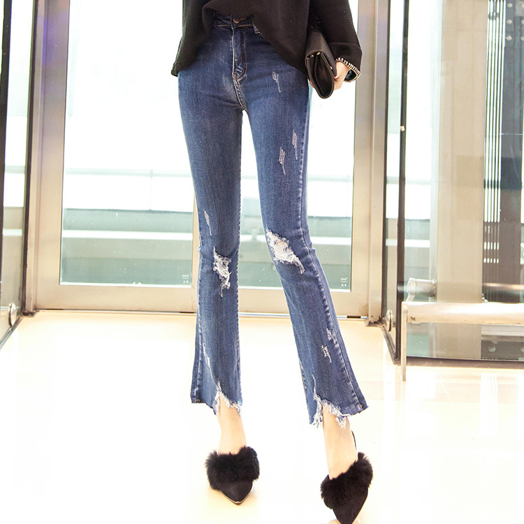 Aliexpress.com : Buy Big Bell Bottom Jeans Flare Pants Ripped ...