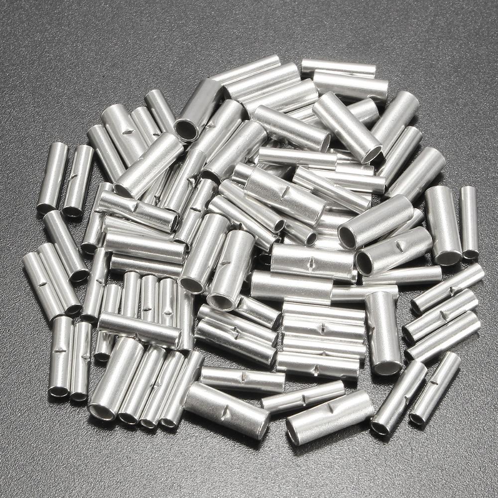 100 шт./лот соединительные разъемы 10 мм, медные 22 10AWG луженые соединительные обжимные клеммные муфты, кабель, термоусадочные трубки, комплекты оболочек|butt splice connector|butt splicesplice connector | АлиЭкспресс